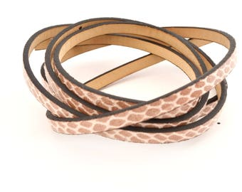 Brown and beige pattern cord Flake faux leather