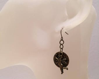 Bronze Angel earrings