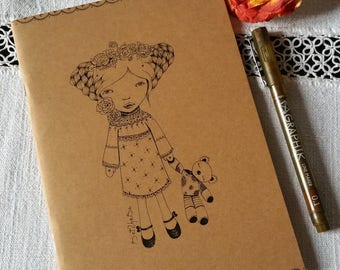 ❤ art Kraft notebook hand illustrated notebook