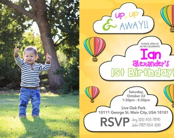 Hot Air Balloons Party Invitation