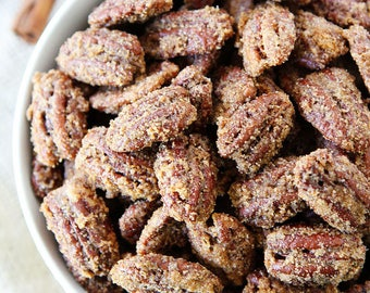 Candied Cinnamon Sugar Roasted Pecans