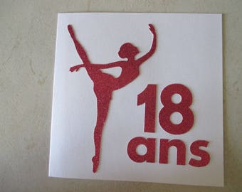 "Adult birthday card girl: 18 ""ballet dancer"""