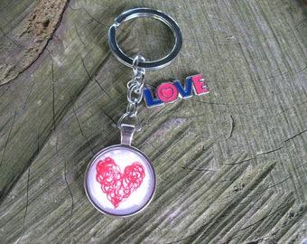 Key charm heart love