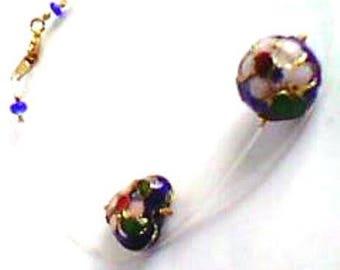 handmade bracelet - modern - minimalist - cloisonne beads