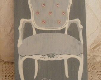Coat gray Gustavian Shabby chic style