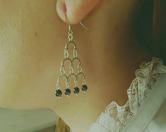 Earrings in 925 sterling silver and pearls Lodestones