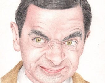 MR BEAN coloured pencil drawing