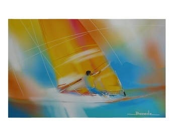 """""""windsurfing""""World Wind 2015 reproduction of a watercolor franqui"""
