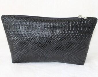 Black leatherette makeup