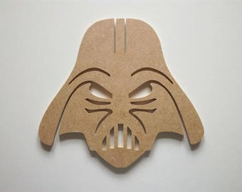 Star Wars Darth Vader head wooden mdf has customize H 21 x 22,8 cm L