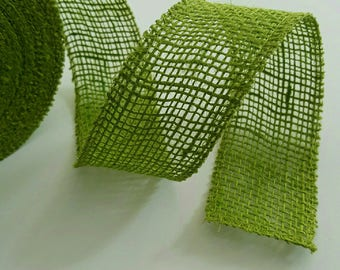 Burlap - 5cm - Green Ribbon