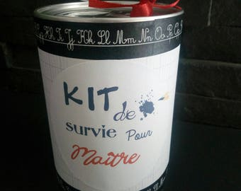 Survival kit for master personalized master year end gift idea