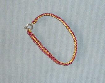 Pearl cotton thread knots macramé bracelet