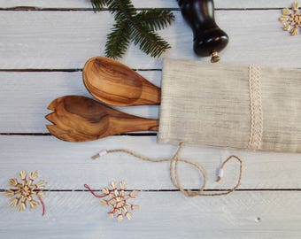 Reusable gift bag; Christmas Gift Bag; Wine bottle bag; Gift bag with laces decor; Reusable Christmas gift bag