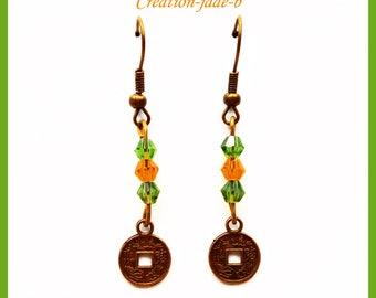 Pending Chinese symbol - fancy earrings