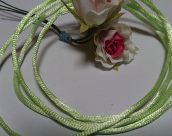 1 meter of knotting in lime green 2mm