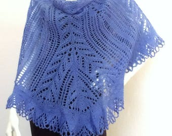 """Sky"" knitted lace shawl"