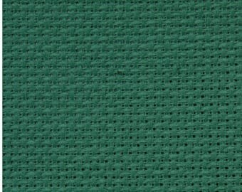 CANVAS EMBROIDERY COTTON 14 CT GREEN COLOR