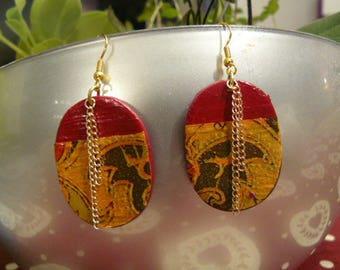 "Original earrings ""India"""