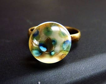 ring spun glass multicolored marble