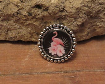 """Silver round brooch """"collection special Aurelia"""""""