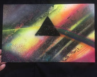 Mini Pink Floyd Spray Paint Art