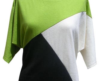 Trival - hemp and cotton - shape geometry sweater