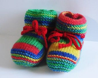 Baby booties - multicolored Jamaica - size 0-3 months