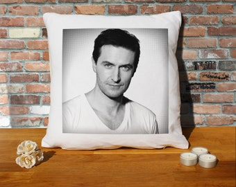 Richard Armitage Pillow Cushion - 16x16in - White