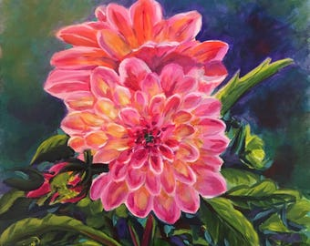 CENTER OF ATTENTION original oil painting