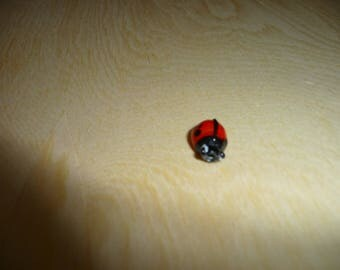Insert Ladybug Lampwork Glass Bead
