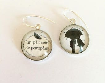 """nice umbrella"" earrings 925 sterling silver"