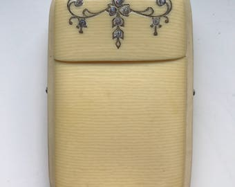 SALE !! -Vintage Art Deco Celluloid Cigarette? Card Case