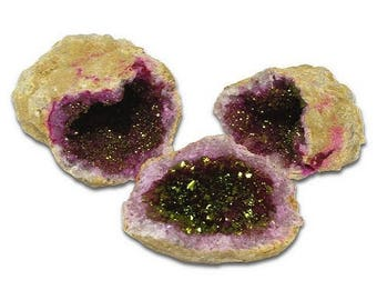 Colorful Geode - Red