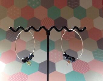 Hoop earrings shine during the holiday season