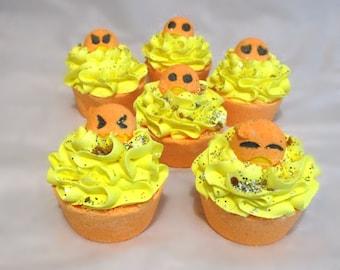 Emoji Bath Bomb Cupcakes