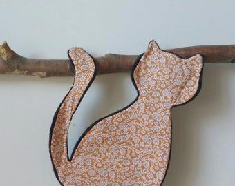 Flat plush cat silhouette so soft!