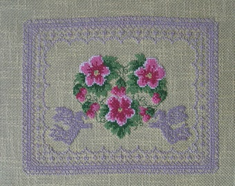 Heart and Angels cross stitch Embroidery