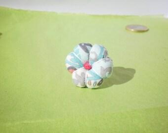 Ring fabric Japanese flower Marie