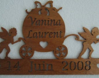 the Angel wedding carriage date name