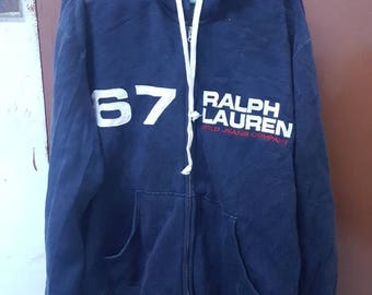 Vintage Polo Ralph Lauren Bear Stadium SPELL OUT hoodies tommy hilfiger gucci fendi versace