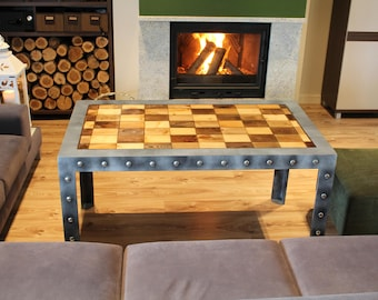 Industrial Coffee Table, Loft , Vintage, Steampunk Furniture, Home Service    Handmade