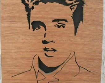 Portrait wood fretwork elvis presley