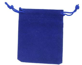 10 sachets, wedding party jewelry 7x9cm Navy Blue Velvet Gift pouches