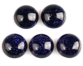 10 mm a set of 2 blue Sunstone cabochon