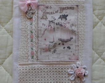 Wall hanging fabric and lace.