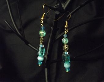 Blue dangling earrings