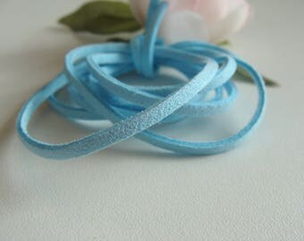 Sky Blue Suede 2 * 2 mm cord