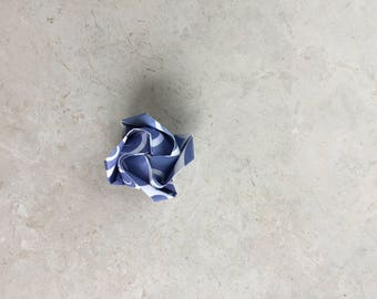 Origami Rose - mini blue