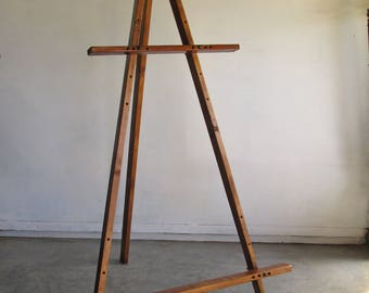 Adjustable Rustic Wooden Easel - 1.4m